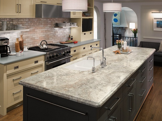 Latest Countertop Options : Formica 180fx 3422 CremaMascarello eSeries 755 eFog