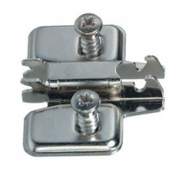 1 PIECE STAMPED STEEL, CLICK-ON, SYSTEM SCREW MOUNT