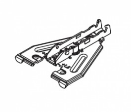 1D DELTA MOUNTING PLATE FOR FACE FRAME, 2-POINT FIXING