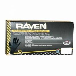 XL LARGE RAVEN-NITRILE GLOVE