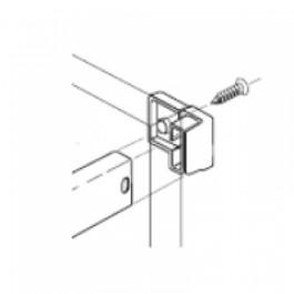 RECTANGLE RAIL DIVIDER CLIP METALLIC