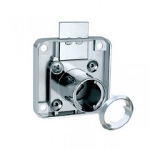 Single Bolt Drawer Lock, 22mm, Nickel