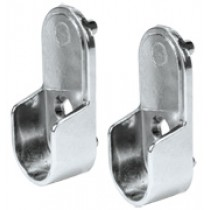 PIN MOUNT STEEL OVAL ROD SUPPORT, 32MM