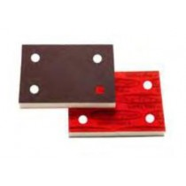 """Premium Red A/O Foam Abrasives with holes, 3"""" X 4"""" Pad 1/2"""" Thick"""