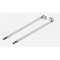 Round railing set for screw fixing, left/right