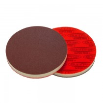 "5"" Disc 1/2"" Thick, Premium Red A/O Foam Abrasives"