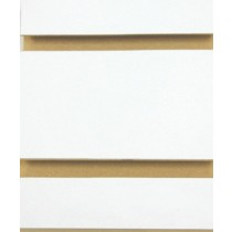 """3/4"""" WHITE ANCHOR SLOTWALL , 3"""" ON CENTRE - 4X8"""